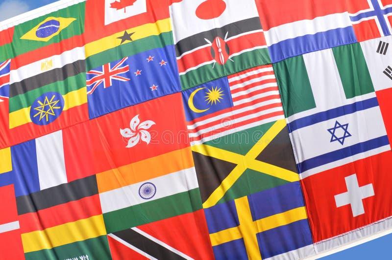 Weltflaggen stockfotografie