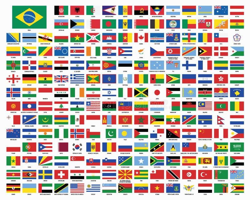 Weltflaggen Markierungsfahnen der Welt lizenzfreie abbildung
