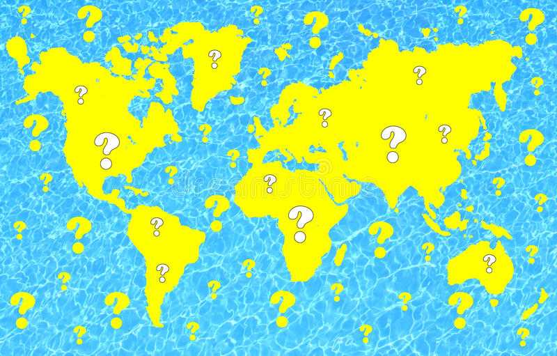 Weltfragen lizenzfreie abbildung