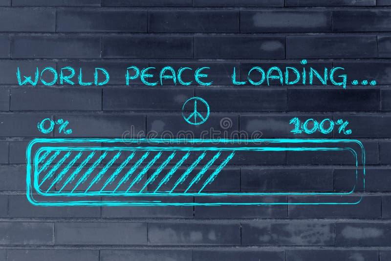 Weltfriedensladen, progess Stangenillustration stockbild