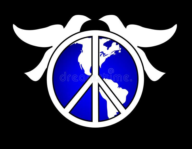 Weltfriedenstauben vektor abbildung