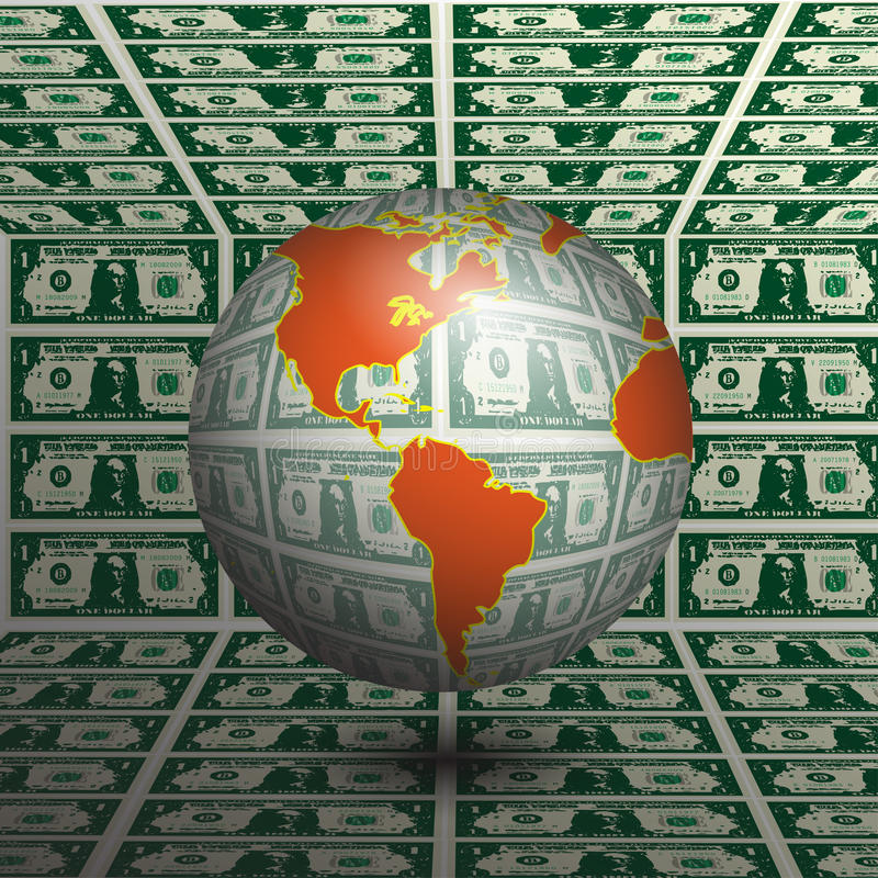 Weltgeld vektor abbildung