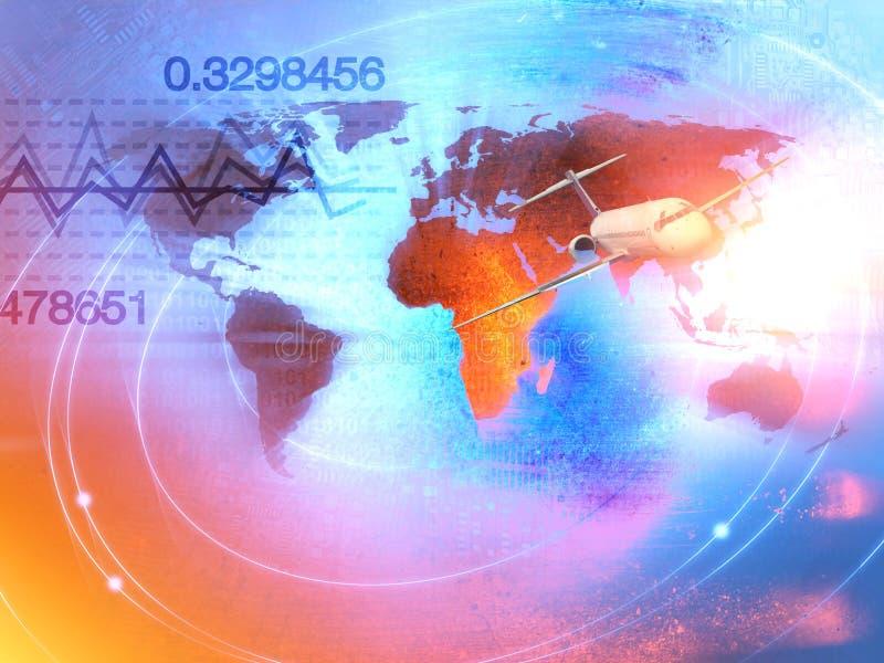 Weltgeschäfts-Hintergrund-Handels-Konzept lizenzfreie abbildung