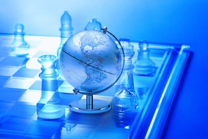 Weltgeschäftsstrategie-Schach stockfotos