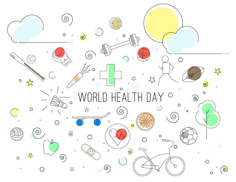 Weltgesundheits-Tag stock abbildung