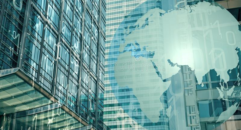 Weltgroßes Daten cybersecurity stockbild