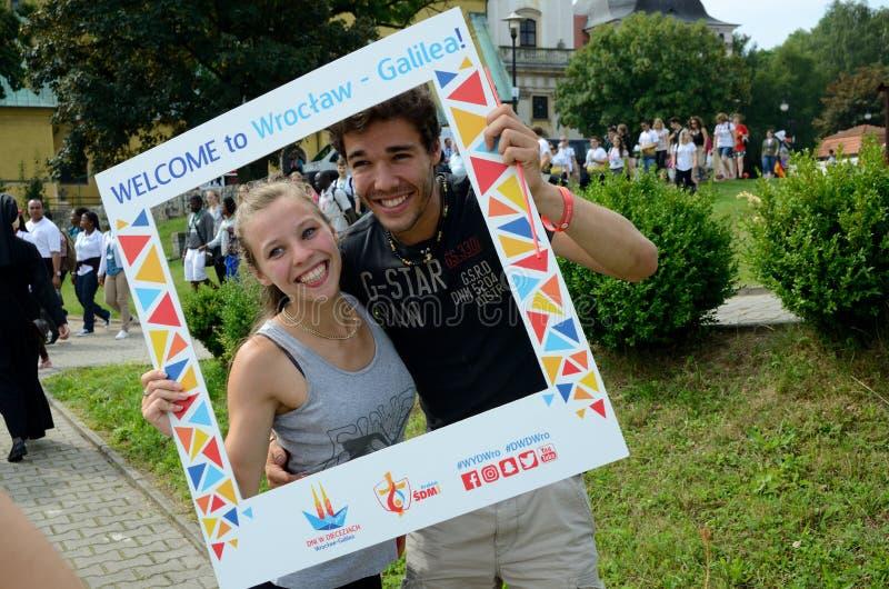 Weltjugend-Tag 2016 in Trzebnica lizenzfreie stockfotografie
