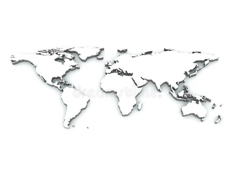 Weltkarte stock abbildung
