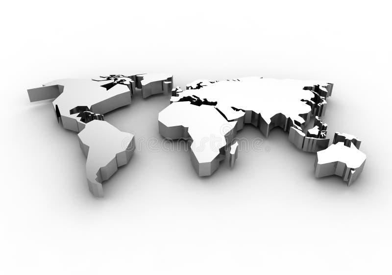 Weltkarte - 3d übertragen lizenzfreie abbildung