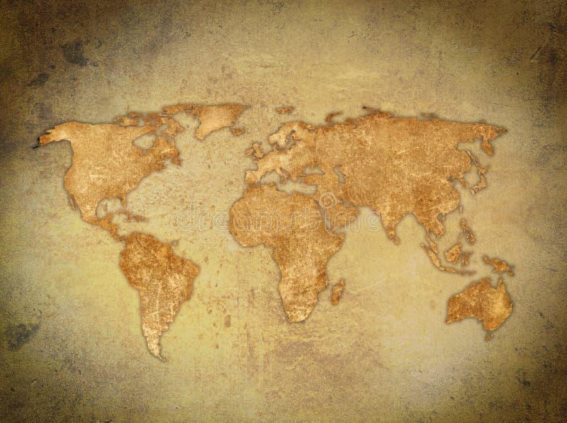 Weltkarte lizenzfreie abbildung