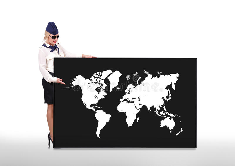 Weltkarte auf weißem Hintergrund lizenzfreie abbildung