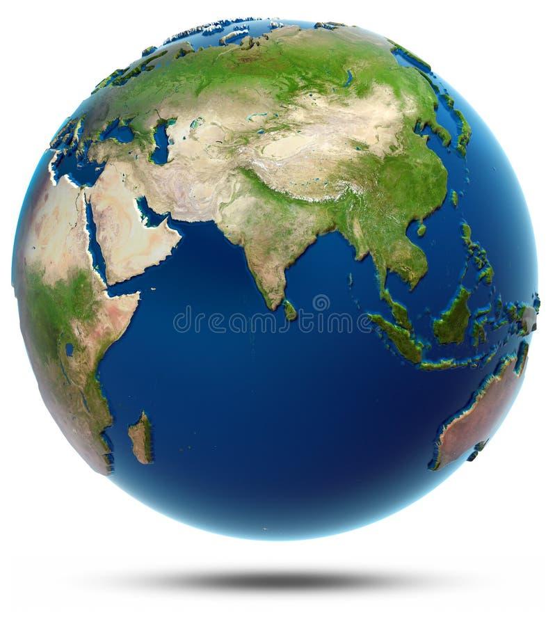 Weltkarte - der Indische Ozean vektor abbildung