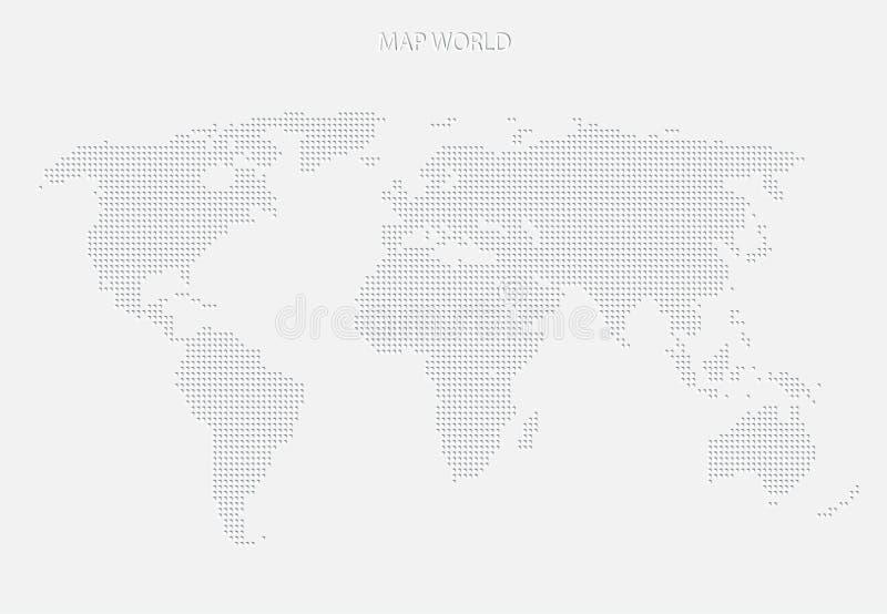 Weltkarte des Graus punktiert modernes Design lizenzfreie abbildung
