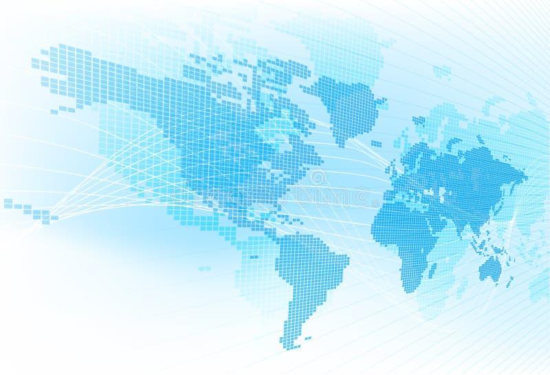 Weltkarte-globaler Erdzusammenfassungs-Hintergrund vektor abbildung