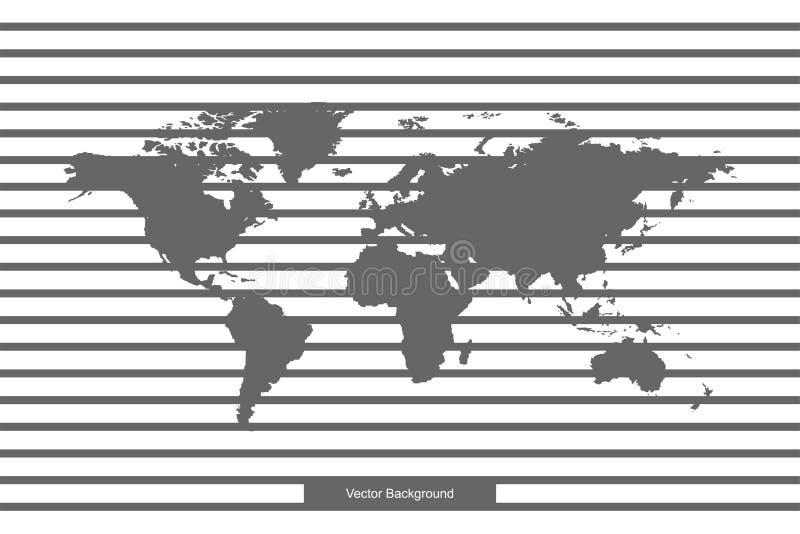 Weltkarte lokalisiert auf weißem Hintergrund Vector Schablone für Website, entwerfen Sie, bedecken Sie, Jahresberichte, infograph vektor abbildung