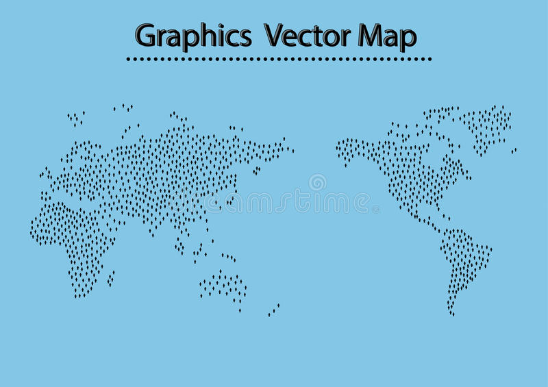Weltkarte-Mannikone vektor abbildung