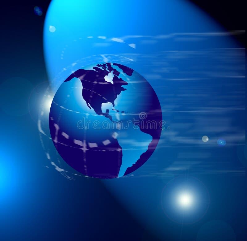 Weltkarte oder -kugel lizenzfreie abbildung