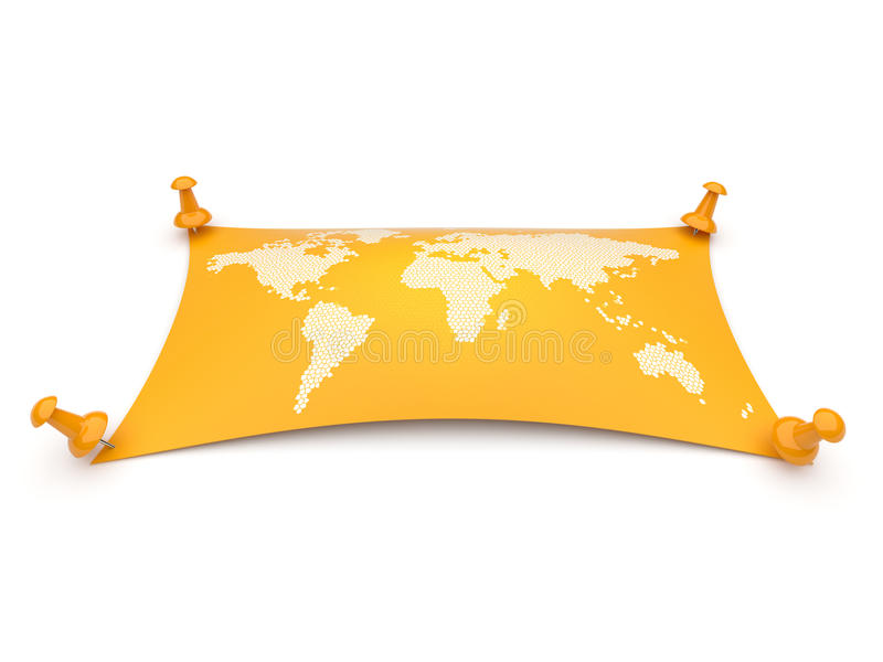 Weltkarte. Reise, Geographie. Getrennt vektor abbildung