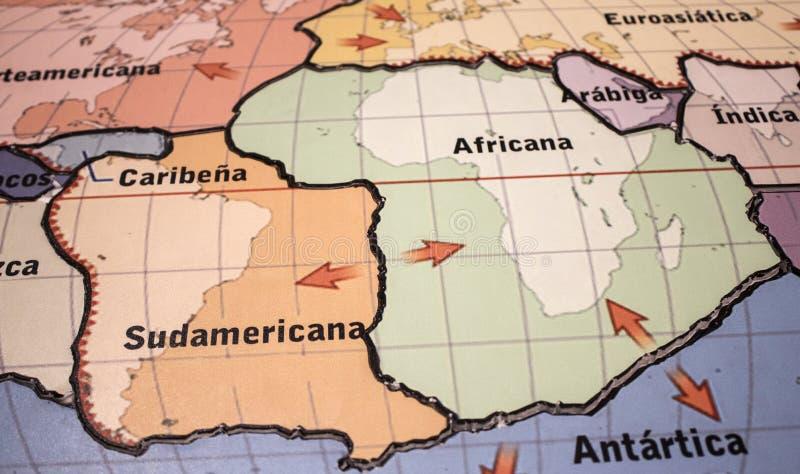 Weltkarte von Afrika-Bildung stockfotos