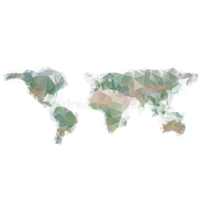 Weltkartehintergrund in der polygonalen Art Es kann für Leistung der Planungsarbeit notwendig sein vektor abbildung