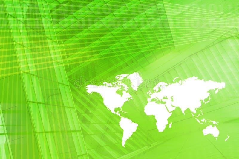 Weltkarten-Digital-Wirtschaftlichkeit-Hintergrund lizenzfreie abbildung
