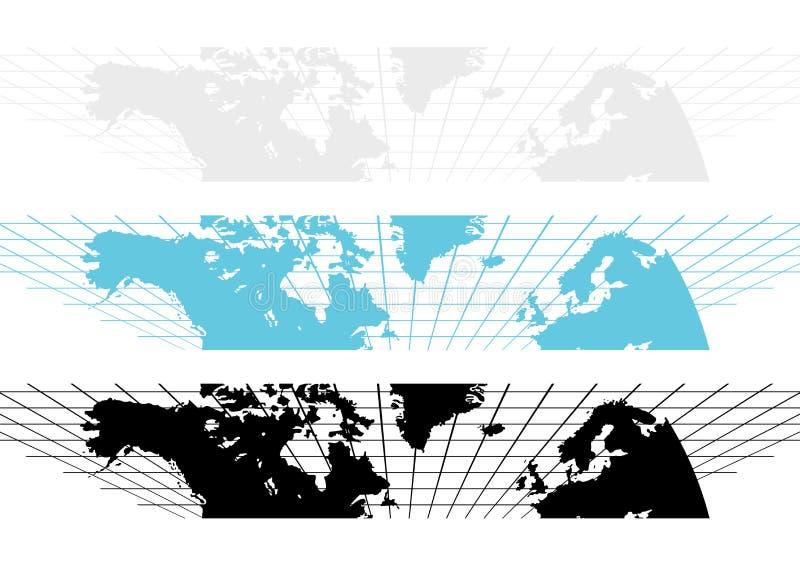 Weltkarten-Fahne vektor abbildung