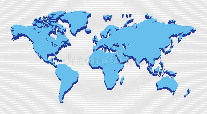 Weltkartenauslegung lizenzfreie abbildung
