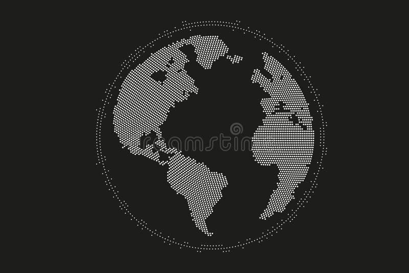 Weltkartepunkt, Linie, Zusammensetzung, das globale darstellend, Verbindung des globalen Netzwerks, internationale Bedeutung lizenzfreie abbildung