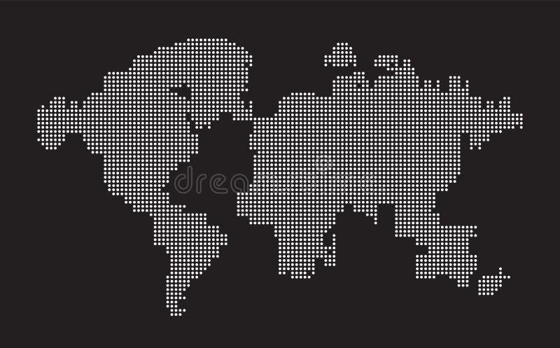 Weltkartepunkt punktiert die Zusammensetzung und stellt das globale, Verbindung des globalen Netzwerks, internationale Bedeutung, stock abbildung