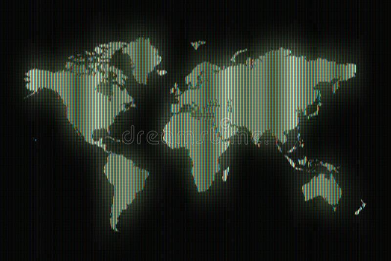 Weltkartezeichenbrett stock abbildung