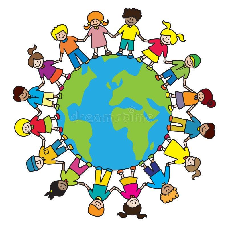 Weltkinder stock abbildung