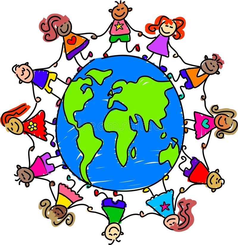 Weltkinder vektor abbildung