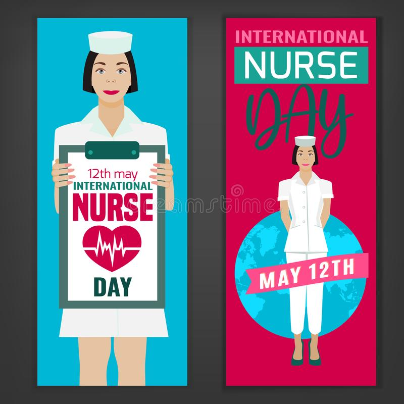 Weltkrankenschwester Day stock abbildung