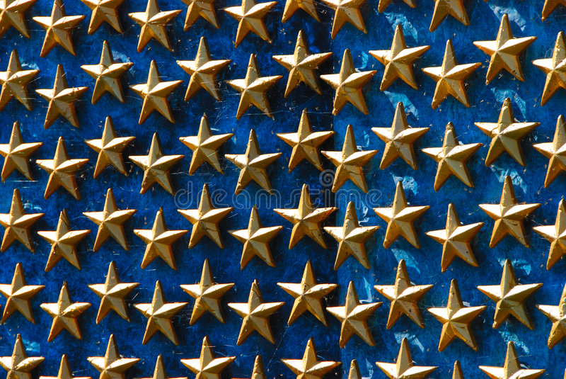 Weltkrieg-Denkmal-Sterne Lizenzfreies Stockfoto