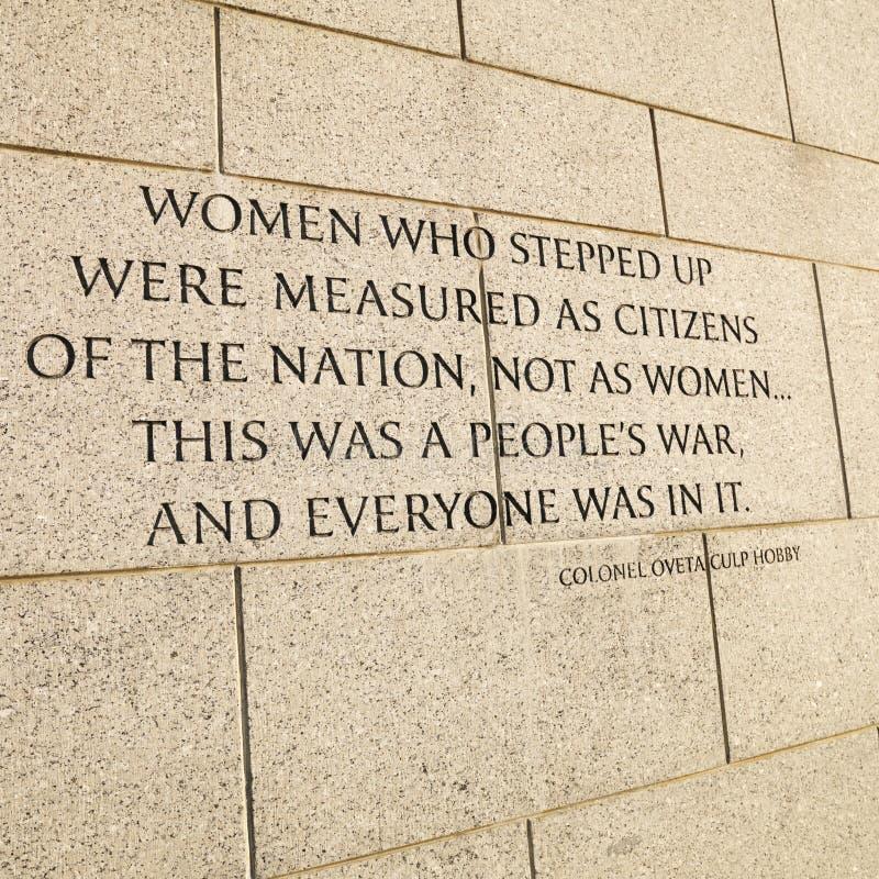 Weltkrieg-Denkmal in Washington, Gleichstrom, USA. stockbilder