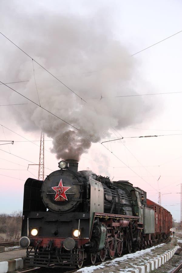 Weltkrieg-Zugdampf-Zugdeutscher lizenzfreie stockfotos