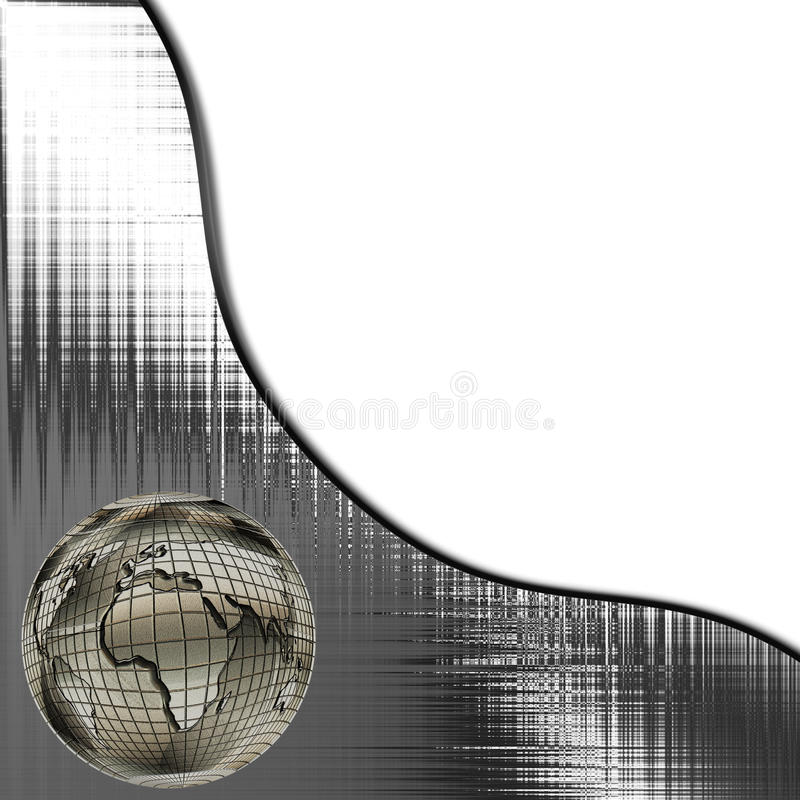 Weltkugel-Schablone stock abbildung