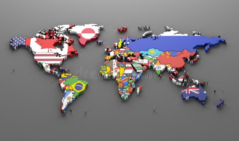 Weltlandflaggen lizenzfreie abbildung