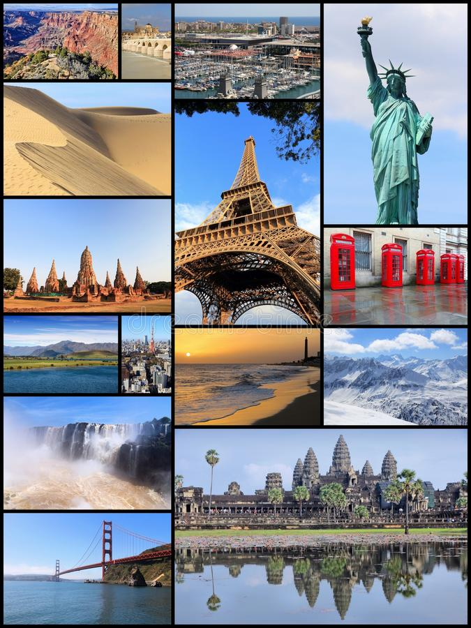 Weltmarksteinpostkarte stockfotos