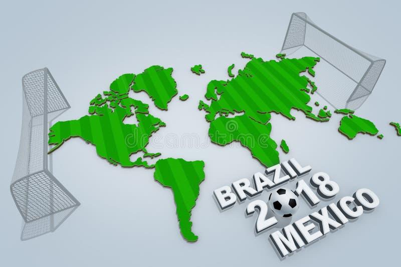 Weltmeisterschaft 2018 lizenzfreie abbildung