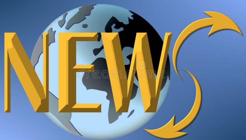 Weltnachrichten lizenzfreie abbildung