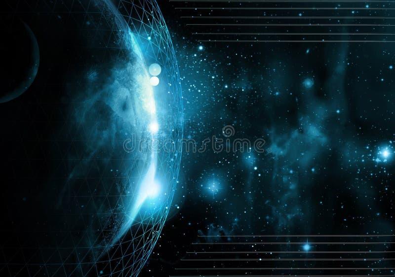 Weltnettotechnologie lizenzfreie abbildung