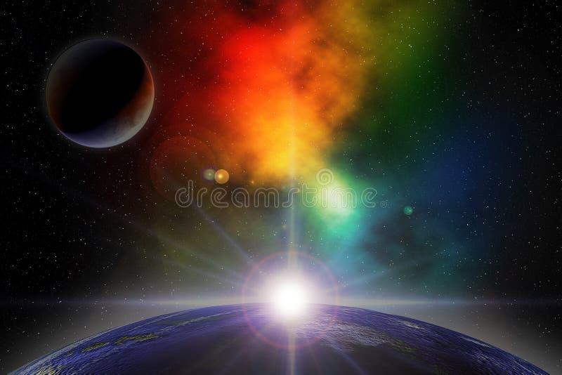 Weltraum lizenzfreie abbildung