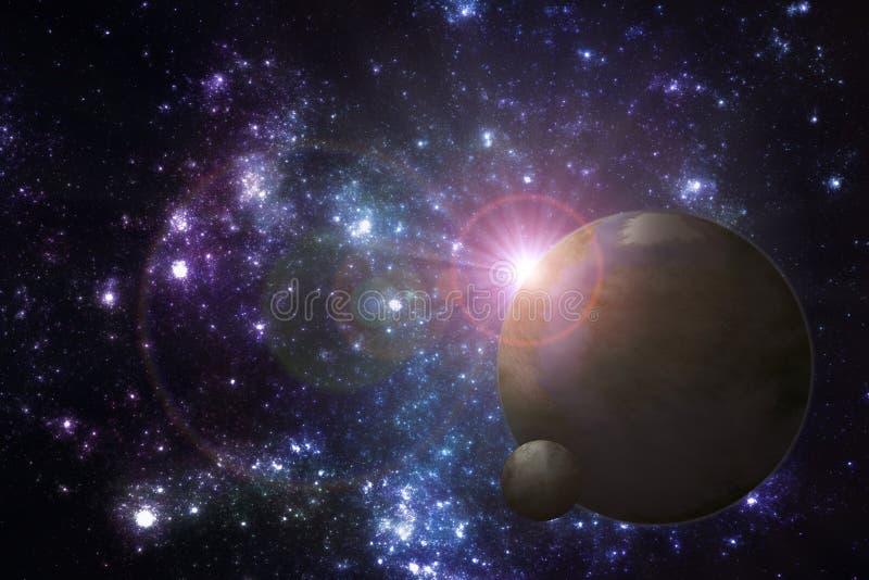 Weltraum exoplanet Illustration lizenzfreie abbildung