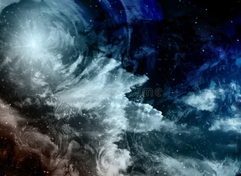 Weltraum-Malerei stock abbildung