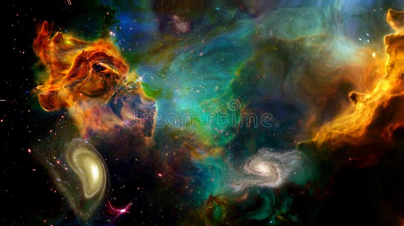 Weltraum-Malerei vektor abbildung