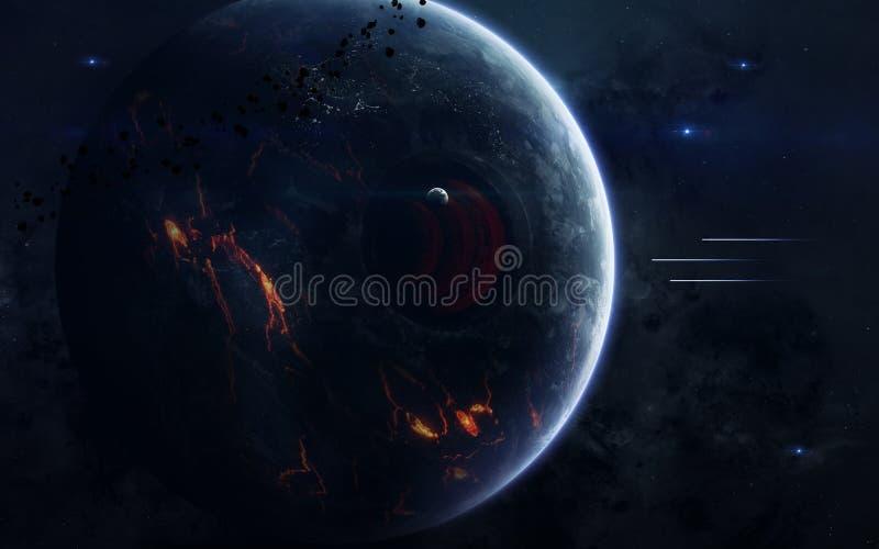 Weltraumforschungsfiktionsbild Elemente dieses Bildes geliefert von der NASA stockbilder