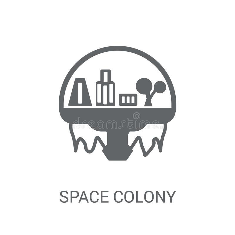 Weltraumkolonieikone  lizenzfreie abbildung