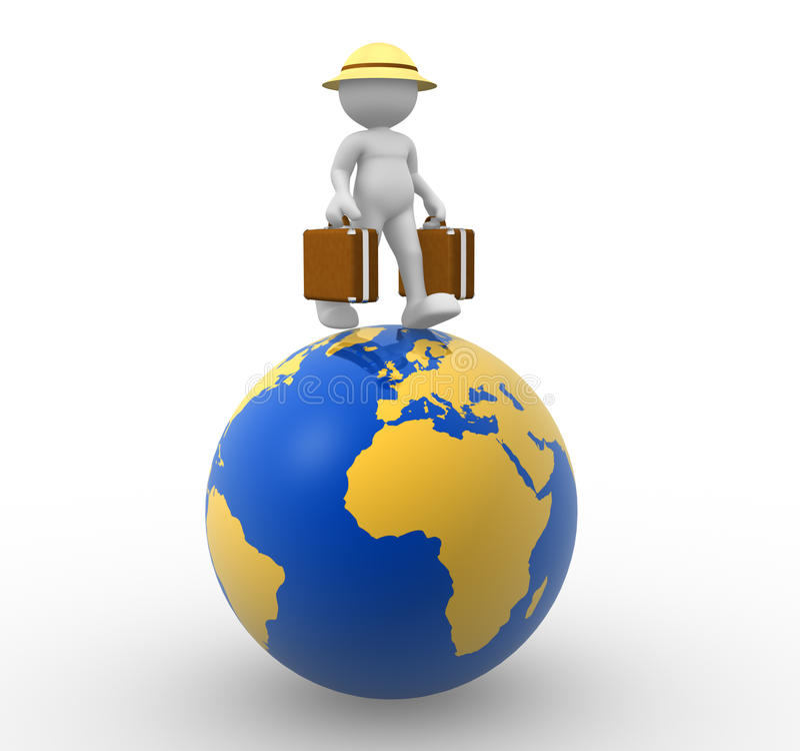 Weltreise stock abbildung