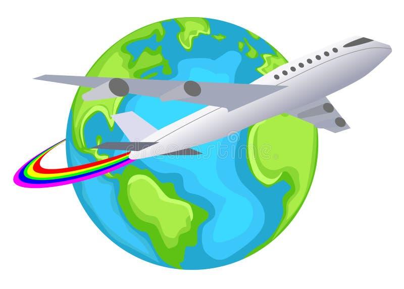Weltreisen-Zeichen lizenzfreie abbildung